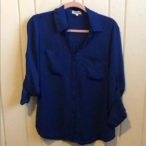 Express portofino button down blouse